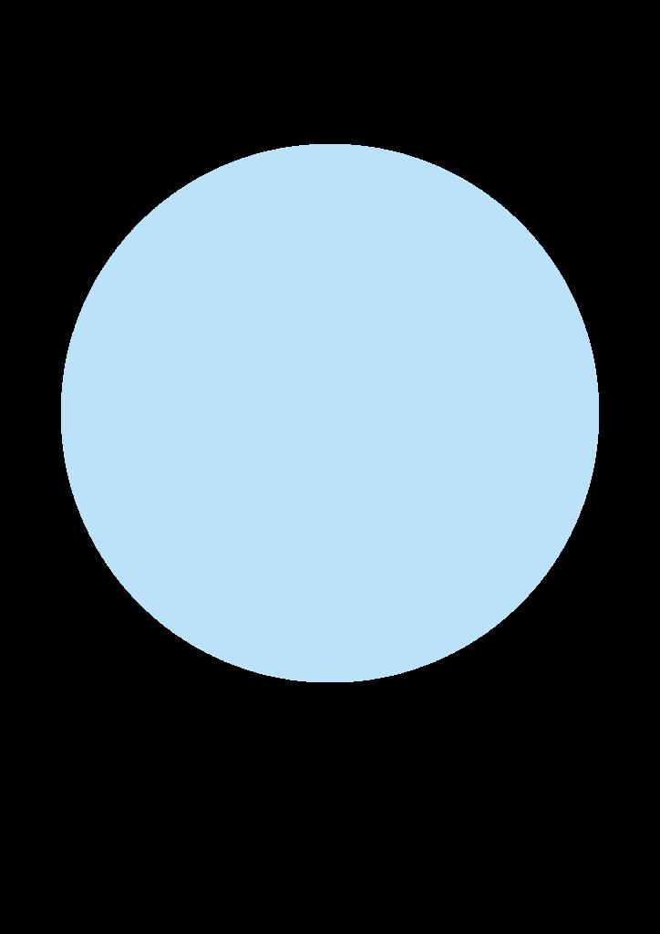 blå cirkel